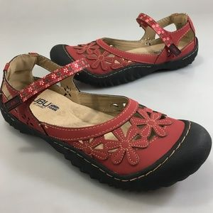 JBU by Jambu 10 M Red Wildflowers Vegan Shoes